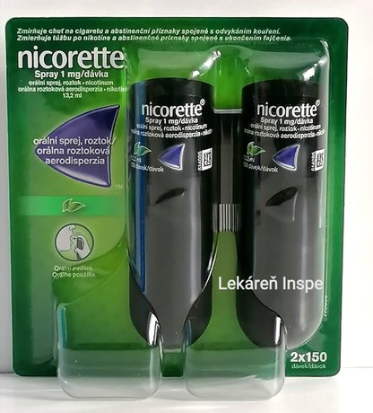 Nicorette Spray 1mg/dávka 150 dávok  2x13,2 ml